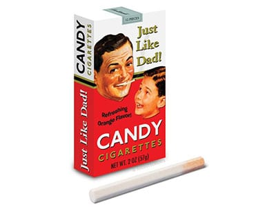 candy cigarettes from the 1970s