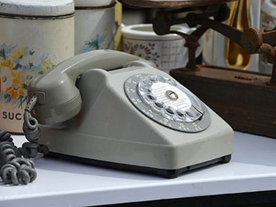 1970s rotary dial phone