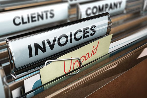 Don't put up with unpaid invoices.